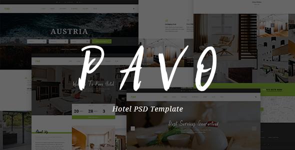 Pavo - Hotel PSD Template