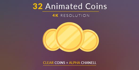 32 Animated Clear Kolikot - Muut elementit Motion Graphics