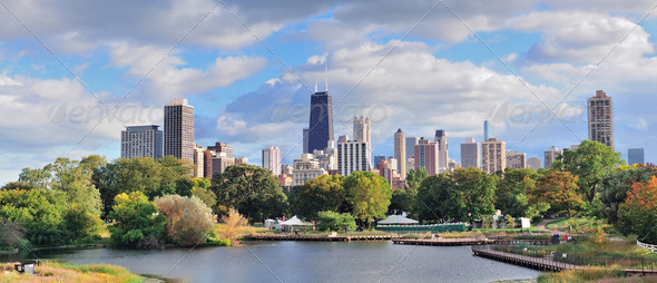 Chicago skyline - Stock Photo - Images