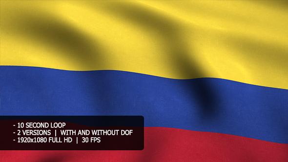 Columbia Flag Tausta - Taustat Motion Graphics