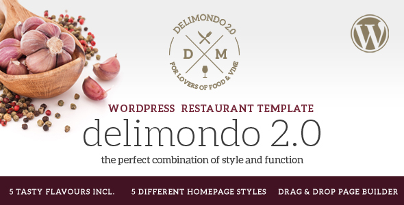 Download Delimondo 2.0 - 5 Styles Restaurant & Food WP Theme nulled download