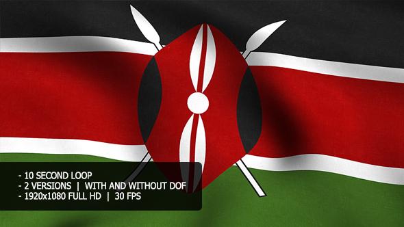 Kenia Flag Tausta - Taustat Motion Graphics