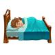 Boy is Sleeping on His Bed