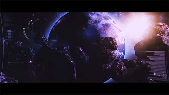 Epic Space Maan Logo avaaja - 3D, Object logo pistot After Effects Project Files