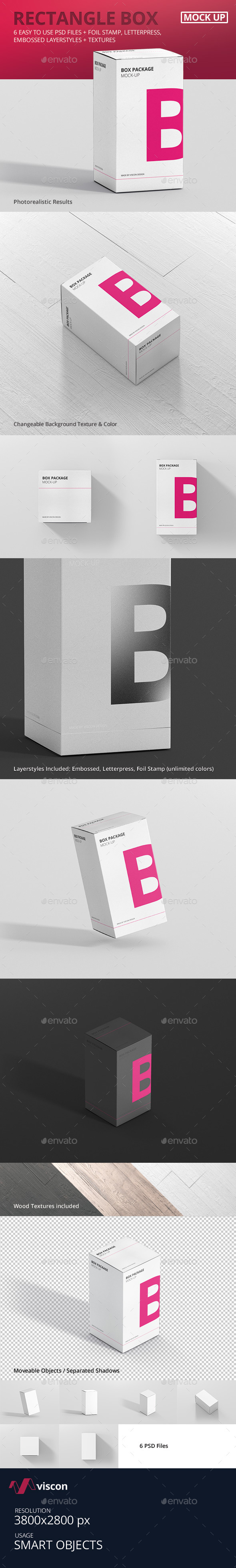 Package Box Mock-Up - Rectangle