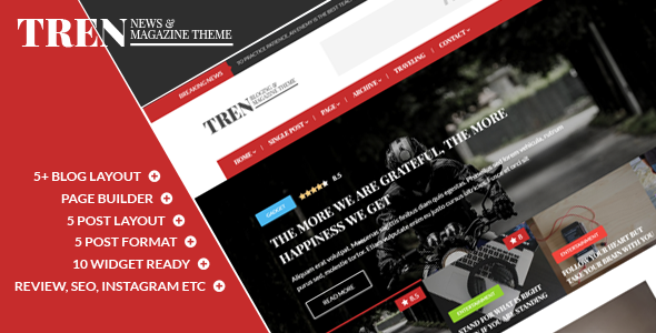 Tren - Blog & Magazine WordPress Theme