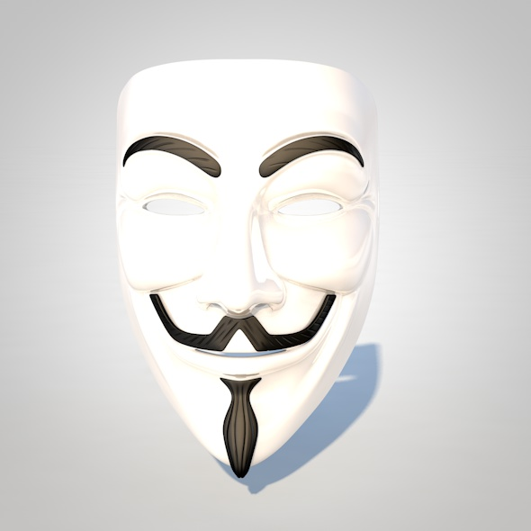 Guy Fawkes Mask - 3DOcean Item for Sale