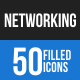 Networking Blue & Black Icons