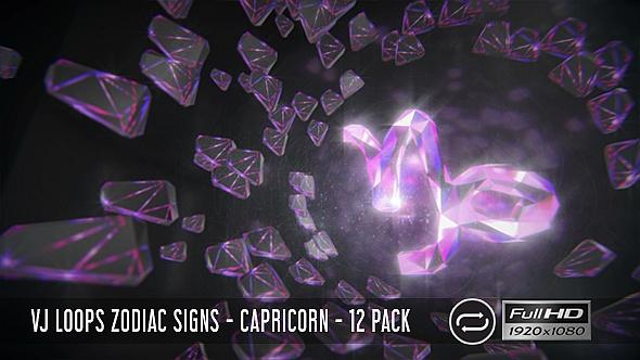 VJ Loops horoskooppi - Kauris - 12 Pack - Light Taustat Motion Graphics
