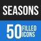 Seasons Blue & Black Icons