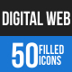 Digital Web Blue & Black Icons