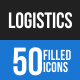 Logistics Blue & Black Icons