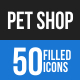 Pet Shop Blue & Black Icons