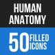 Human Anatomy Blue & Black Icons