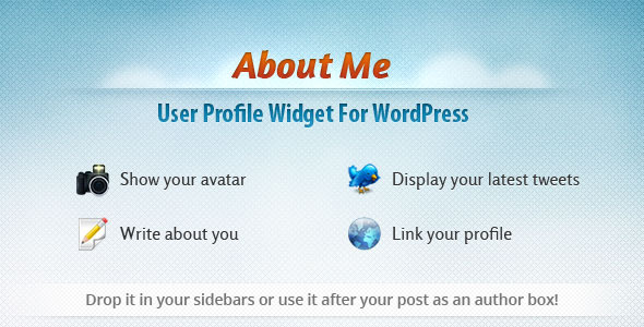 CodeCanyon User Profile Widget for WordPress About Me 500932