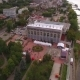 Drone Flies Over Embankment Of Samara City
