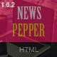 NewsPepper - News Magazine HTML5 Template