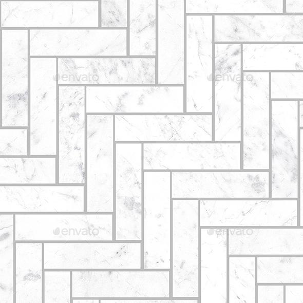 Seamless Small Marble Herringbone tiles - 3DOcean Item for Sale