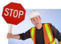 Conceptual Construction Worker Asking to Stop Doing Something - PhotoDune Item for Sale