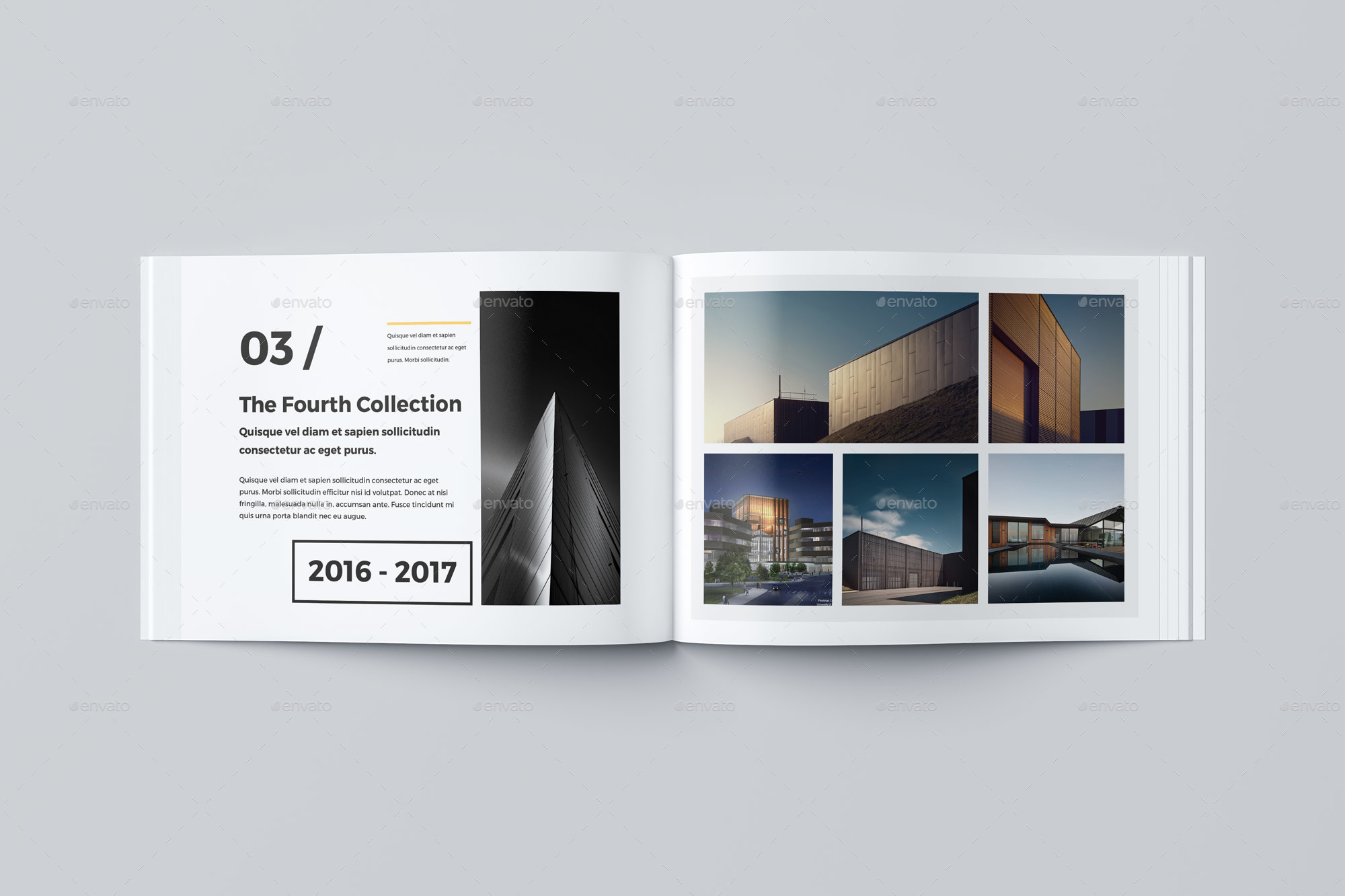 Our portfolio architecture 24 pages a4 a5 by pro gh for Indesign interior