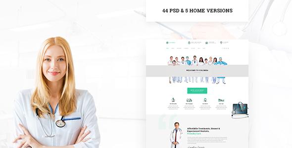 Columba - Medical PSD Template