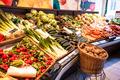 The vegetables market