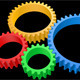 4 Colored Gears Animation w/ Alpha - VideoHive Item for Sale
