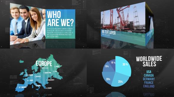 Yritysten esittely - Corporate Video Näyttää After Effects Project Files