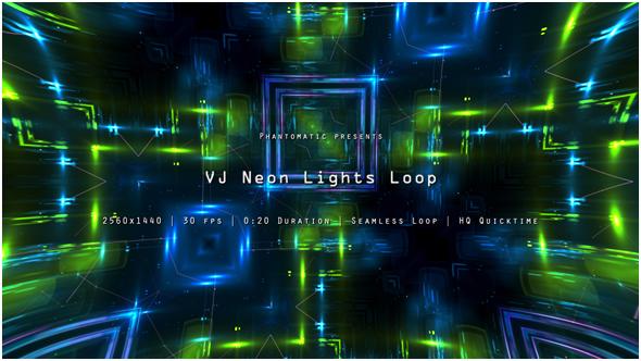 VJ Neon Lights 15 - Electric Taustat Motion Graphics