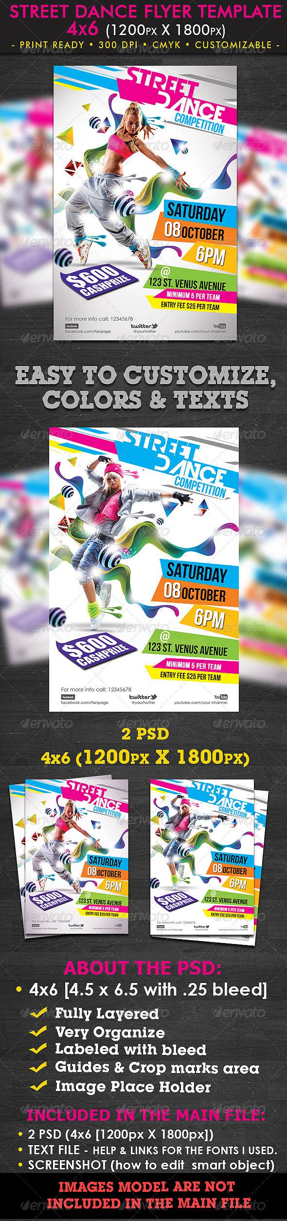 GraphicRiver Street Dance Flyer Template 1625614