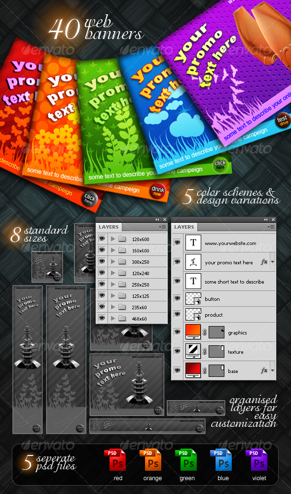 GraphicRiver decorative web banner pack 63520