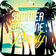 Summer Sunshine Party Flyer Template PSD