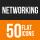 Networking Flat Round Icons
