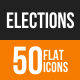Elections Flat Round Icons