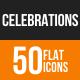 Celebrations Flat Round Icons