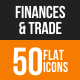 Finances & Trade Flat Round Icons