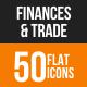 Finances & Trade Flat Round Icons