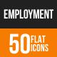 Employment Flat Round Icons