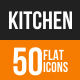Kitchen Flat Round Icons