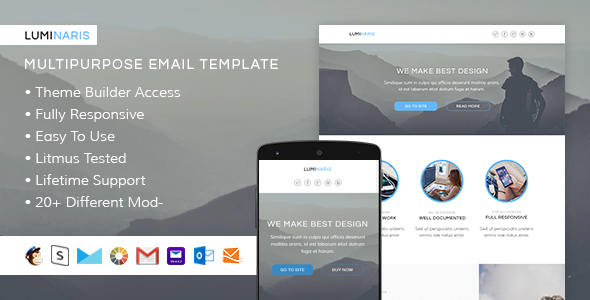Luminaris - Responsive Email + StampReady Builder