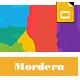 Modern google slide business presentation template for report and plan