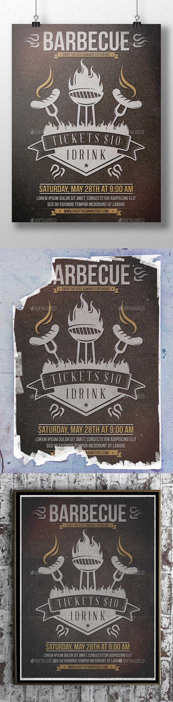 BBQ Summer Flyer Template