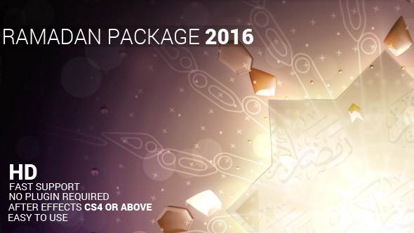 Ramadan Package - Holiday Broadcast Paketit After Effects Project Files