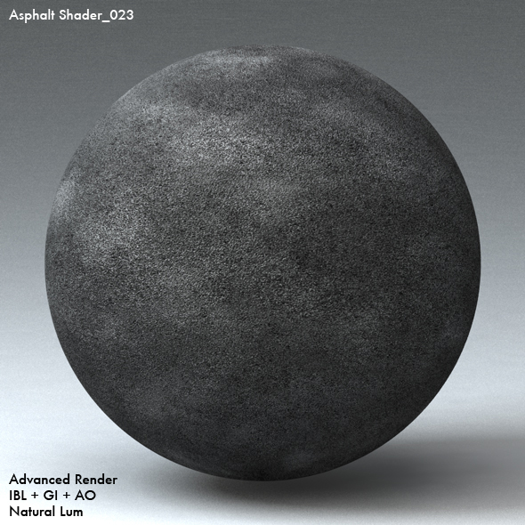 Asphalt Shader_023 - 3DOcean Item for Sale