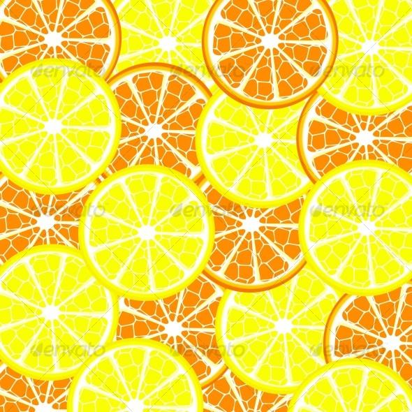 Vector illustration of lemon and orange background