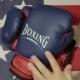Kids Boxing Gloves And An American Flag