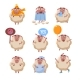 Sheep Cartoon Character Set