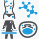 Health Test And Medical Science Icons