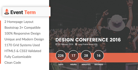 Event Term- Event & Conference HTML Template (Events) | Php Updated ...