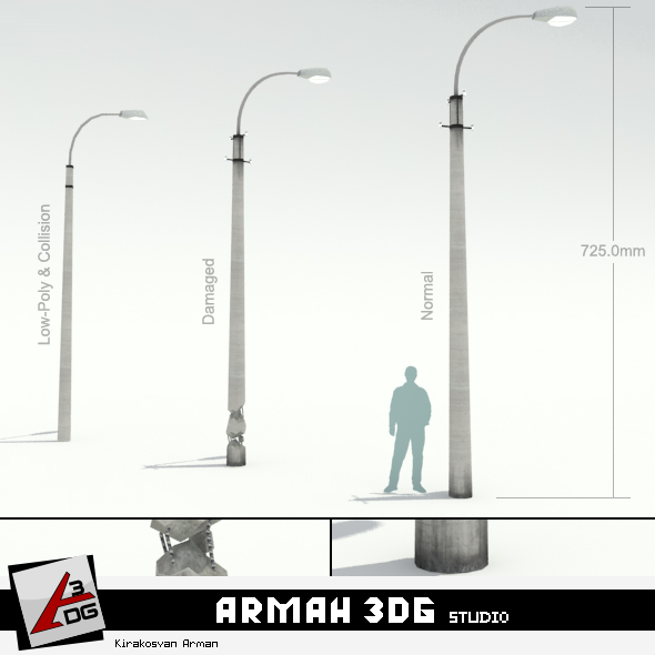 3DOcean Road lights 16266992